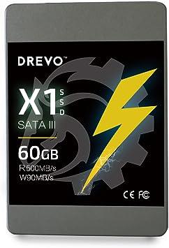 Hectron X1 Series 60 GB Disco Duro sólido SSD de 2.5 Pulgadas SATA ...