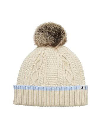 d1fa1daaa7d1b Joules Anya Bobble Hat - SS19 Cream Marl One-Size at Amazon Men s Clothing  store
