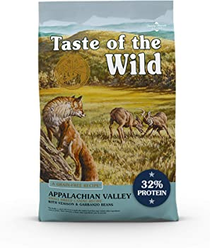 Taste of the Wild Grain Free High Protein Real Meat Recipe Appalachian Valley Premium Dry Dog Food