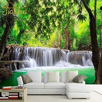 L22LW Wandbild 3D Fototapete Natur Landschaft Wasserfall Wand ...