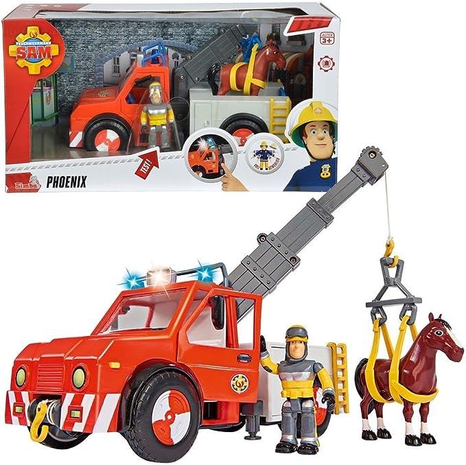 Sam, el bombero Phoenix Vehículo Rescate de Animales Luz , Caballo & Sam: Amazon.es: Juguetes y juegos