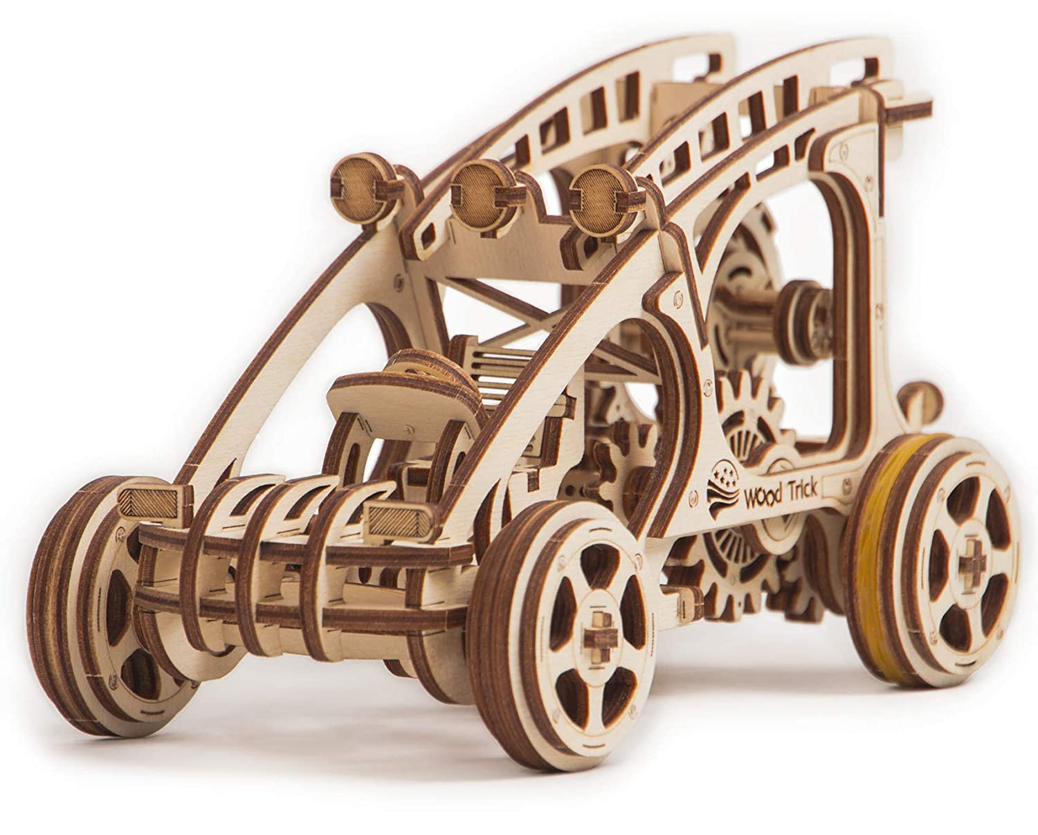 Wood Trick Dune Buggy Wagon Car Mechanical Models 3d Wooden Puzzles Diy Toy Assembly Gears Constructor Kits For Kids Teens And Adults