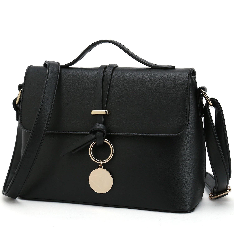 522e742db9 Stylish Cross Body Purses For Women Fashion Shoulder Bag Ladies Desinger  Handbag (Black)  Handbags  Amazon.com