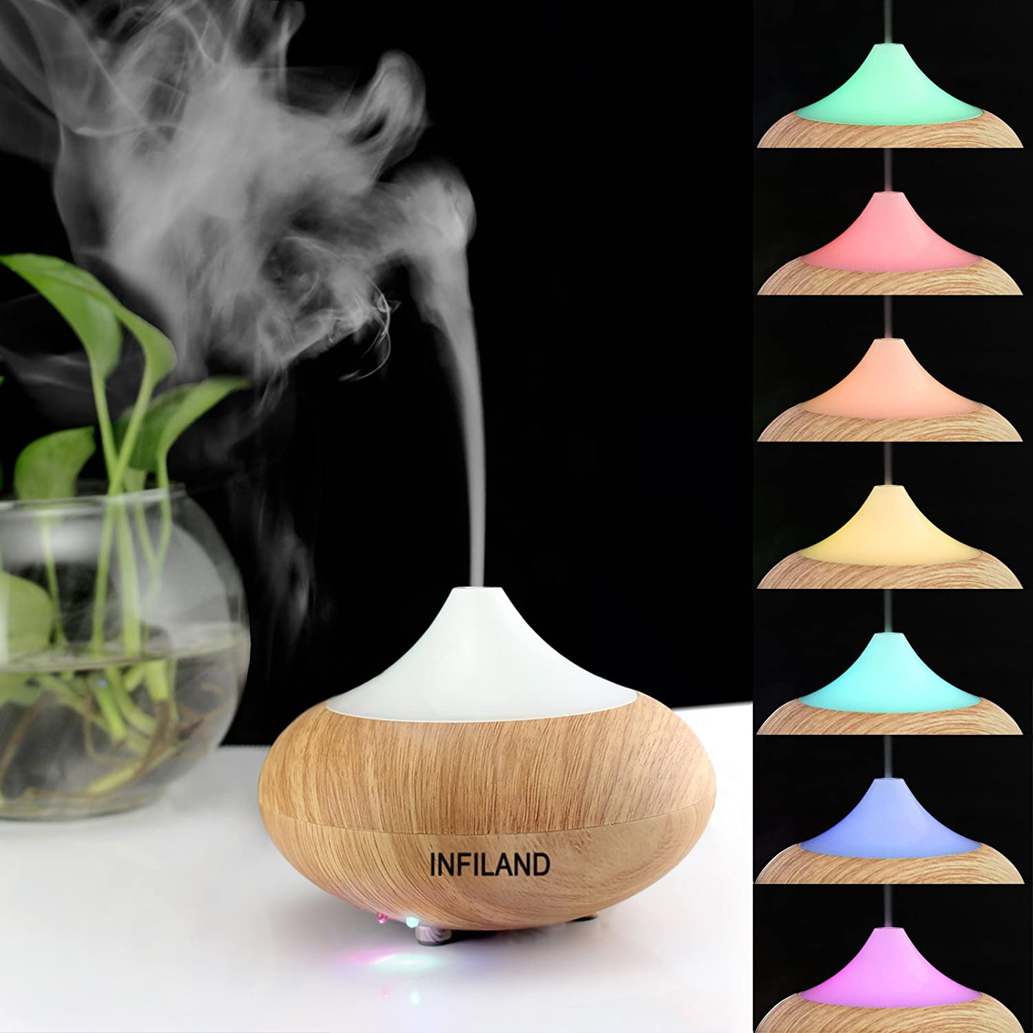 Amazon.com: Infiland Ultrasonic Humidifier Air Purifier Aroma ... for Electric Fragrance Diffuser Lamp  174mzq