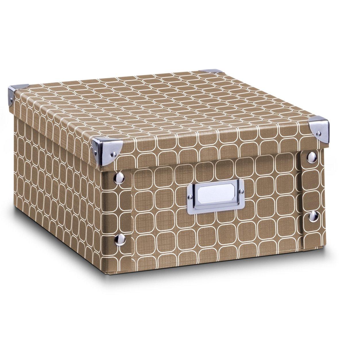 Zeller 17595 Caja de almacenaje de cartón Gris (Grau) 16.5 x 28 x 15 cm: Amazon.es: Hogar