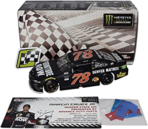 AUTOGRAPHED 2017 Martin Truex Jr. #78 Furniture Row KENTUCKY SPEEDWAY WIN (Raced Version with Confetti) Monster Signed Lionel 1/24 Scale NASCAR Diecast Car with COA (#145 of only 878 produced!)
