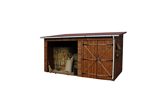 ESTRUCMADER Caseta de Madera Cobertizo Mod. Turia: Amazon.es: Jardín