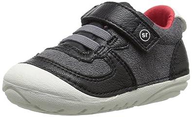 Stride Rite Soft Motion Barnes Sneaker (Infant/Toddler), Black, 3 M