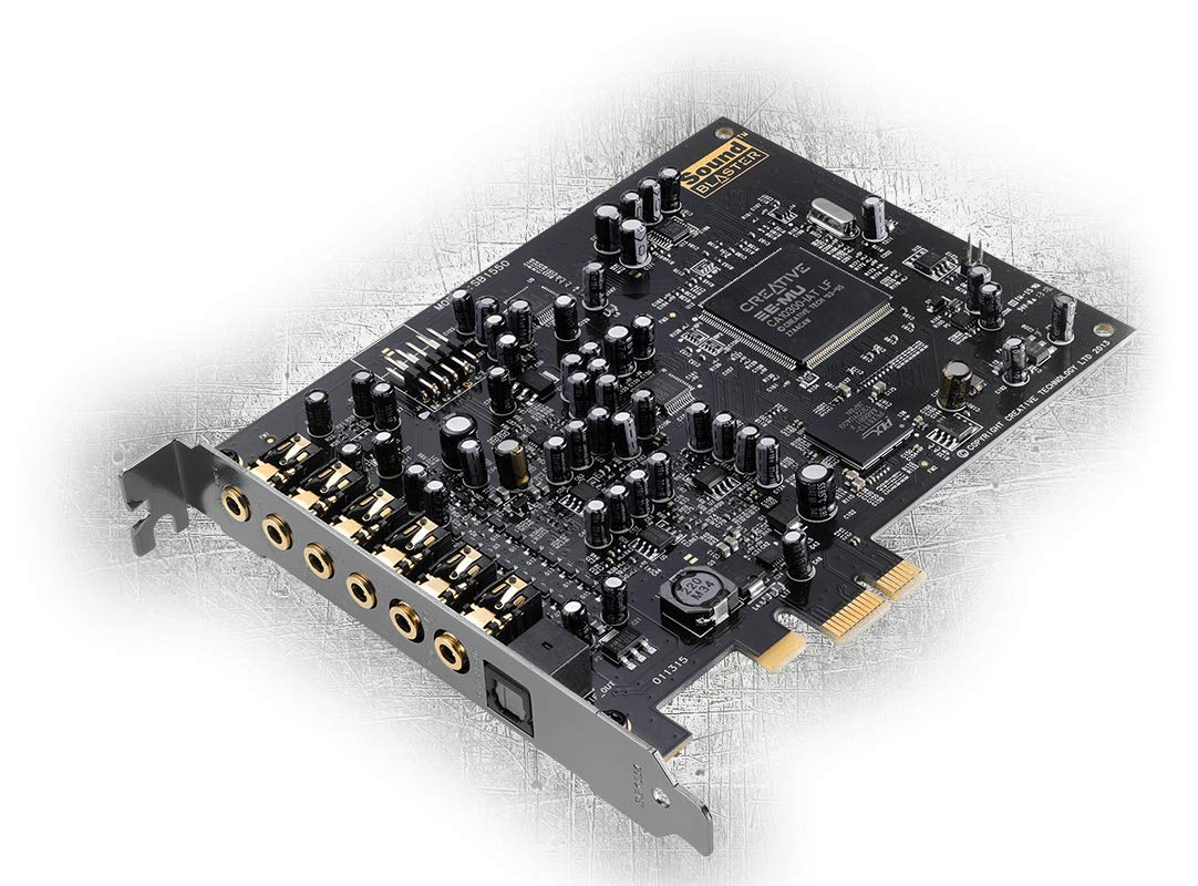 Creative Sound Blaster Audigy PCIe RX 7.1 Sound Card with High Performance Headphone Amp by Creative