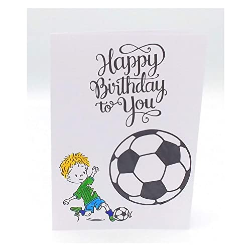 Carte Anniversaire Foot Carte Football Carte Anniversaire Enfant Carte De Voeux Carte D Anniversaire Garcon Carte Happy Birthday To You Carte Joyeux Anniversaire Sportive Amazon Fr Handmade