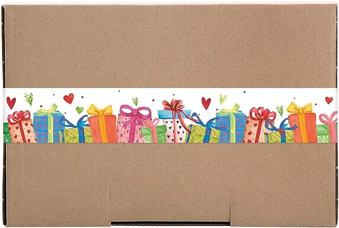 Lot de 10 Marron Logbuch-Verlag Grande bo/îte cadeau en papier kraft avec emballage color/é DHL Maxibrief 30,5 x 20,2 x 4,5 cm