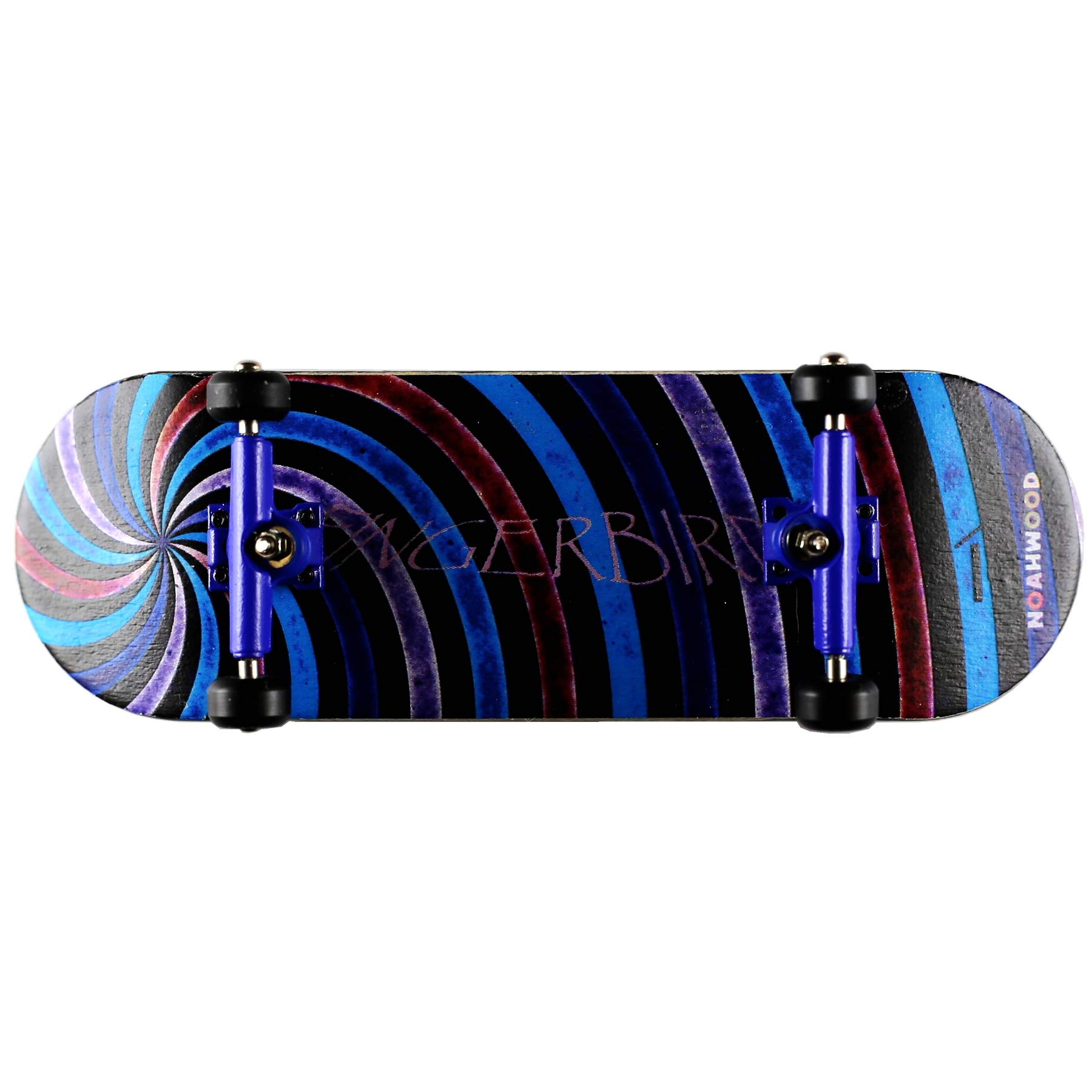 NOAHWOOD X Fingerbird Wooden PRO Fingerboards (Deck,Trucks,Wheels a Set) (Swirl i Set, 100x32mm)