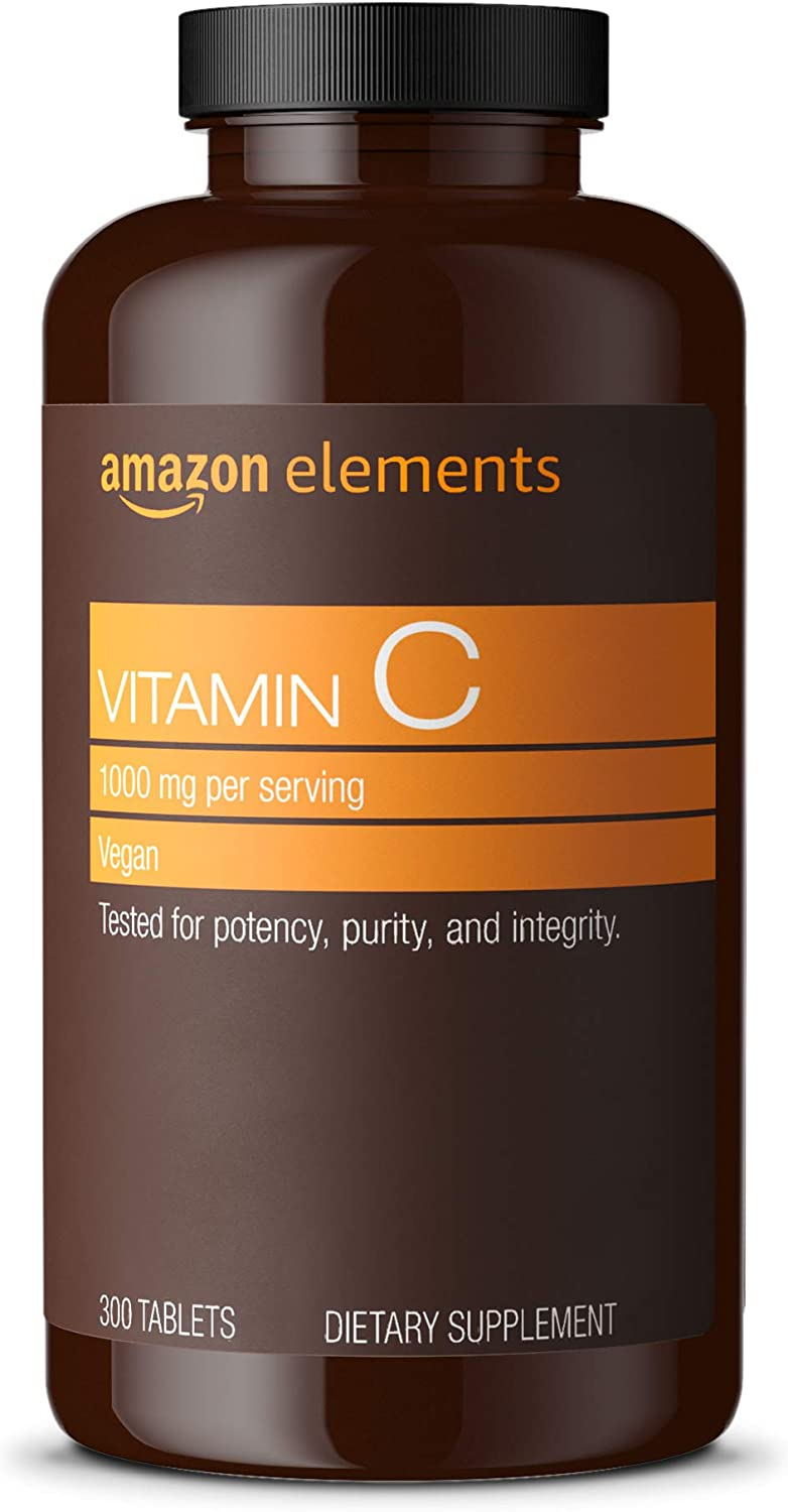 Elements Vitamin C 1000mg, Supports Healthy Immune System, Vegan, 300 Tablets, 10 month supply: Health & Personal Care