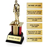 The Office Dundie Award Replica Trophy | Host Your Own The Office Dundies Awards Ceremony | Includes 6 Interchangeable Title