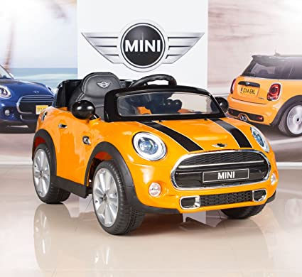Mini Cooper Car >> Amazon Com Bigtoysdirect 12v Mini Cooper Kids Electric Ride