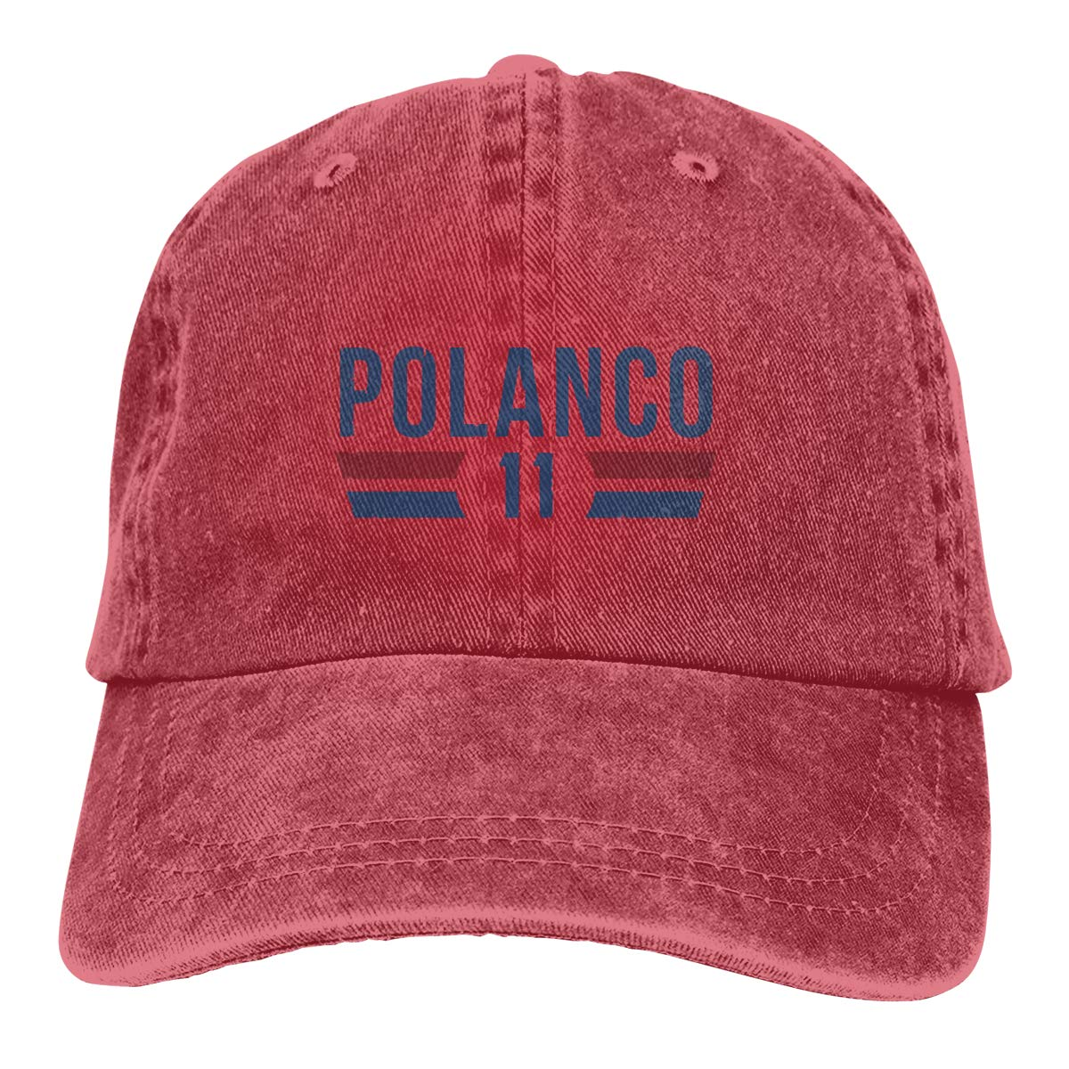 DeniCar Unisex Adjustable Baseball Caps Jorge-Polanco-Logo Cowboy Skull Cap