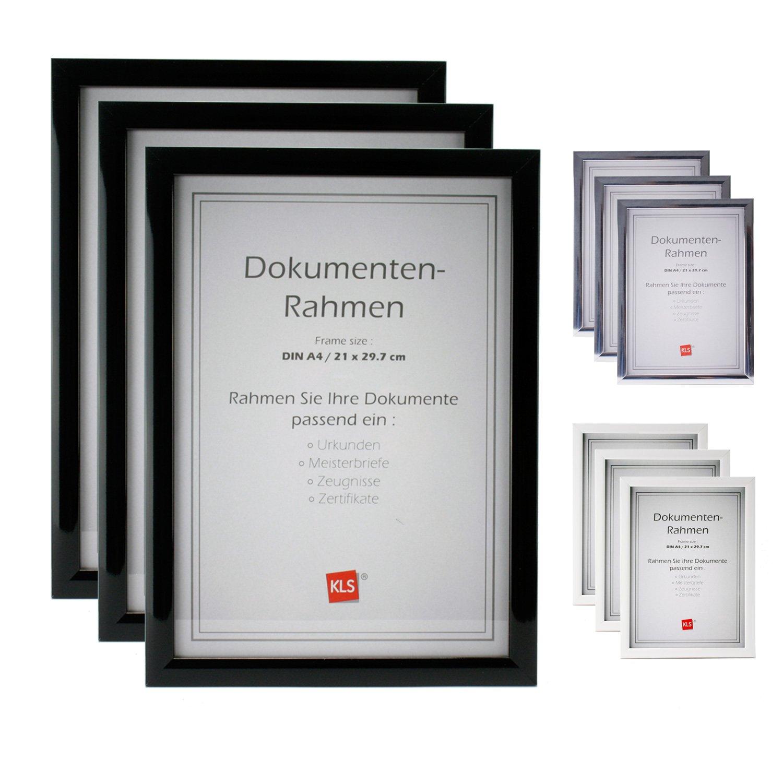 3er Set Bilderrahmen Rahmen für Dokumente, Zertifikat und Urkunden ...