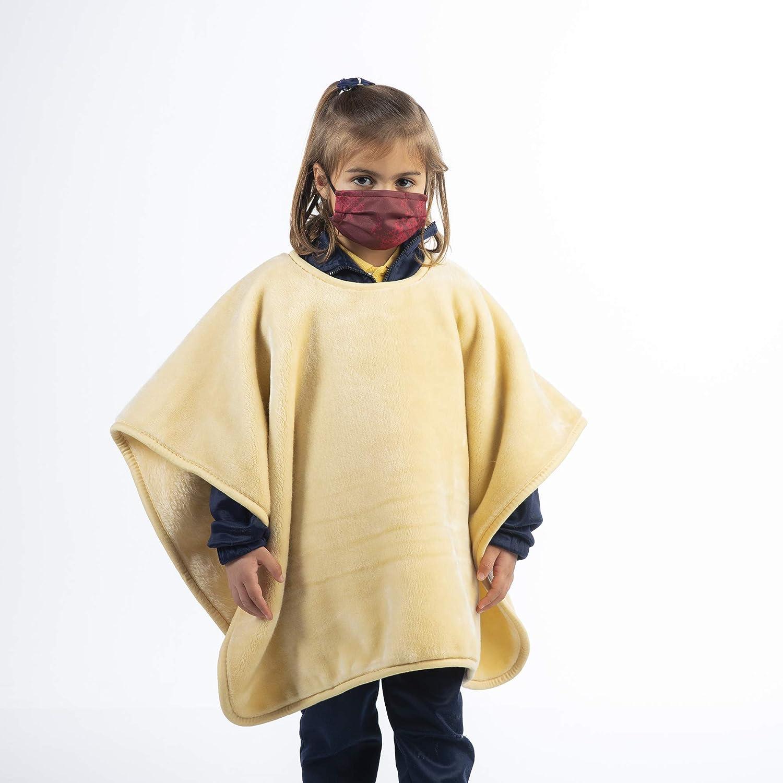 Piel 126569 | Cole manta Colegio | Cole manta Niños | Manta para Clase | Manta Cole Hipoalergénica para Niños | Color Nácar | Tamaño 80x110