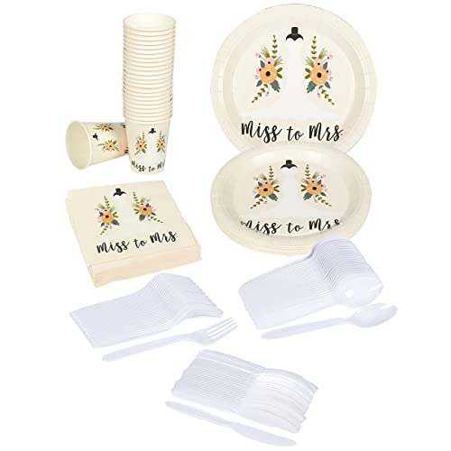 juvale bridal shower party supplies serves 24 includes plastic knives spoons forks