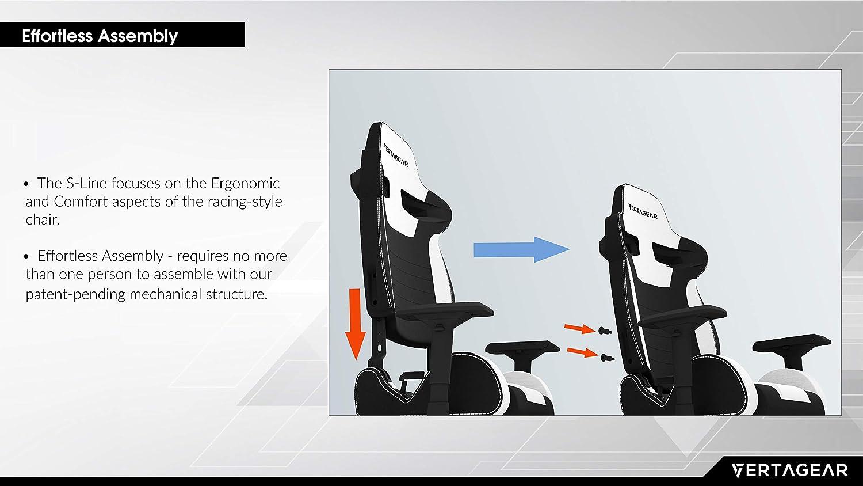 VERTAGEAR S-Line SL4000 Gaming Chair Black/Green Black/Green