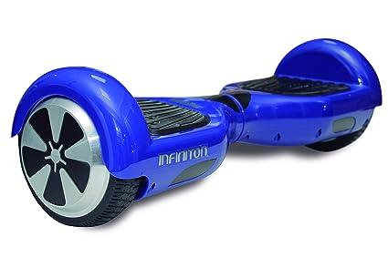 Patin ELECTRICO INFINITON (Patinete, 2 Motores, Velocidad máxima de 10Km/h, Ruedas 6.5″) (Azul)