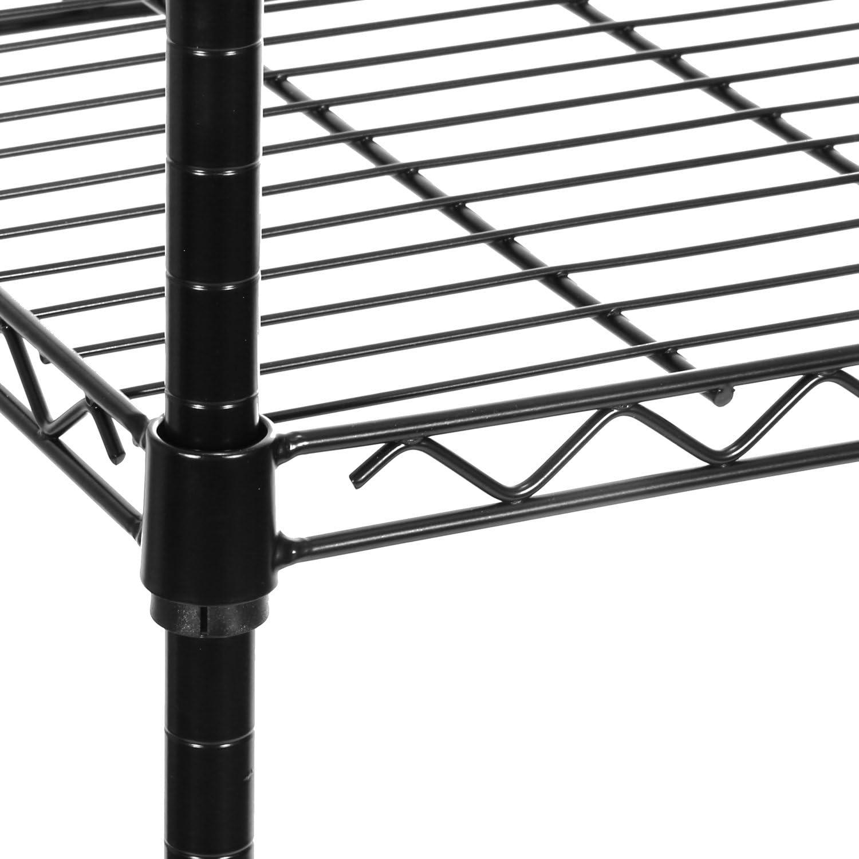"Seville Classics 5-Tier Black Epoxy Steel Wire Shelving, 30"" W x 14"" D x 60"" H: Home & Kitchen"