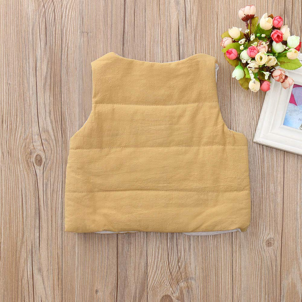 Amazon.com: KpopBaby Discount Toddler Baby Girls Boys Kids Sleeveless Solid Winter Warm Vest Coats: Clothing