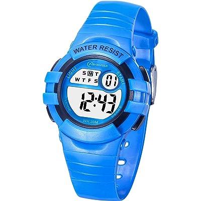 Reloj Niños Niña Digital,Reloj Infantil Digital Multifunción con Pantalla LED Impermeable para Niños, Niñas Reloj Infantil Aprendizaje para Niños 4-15 Años