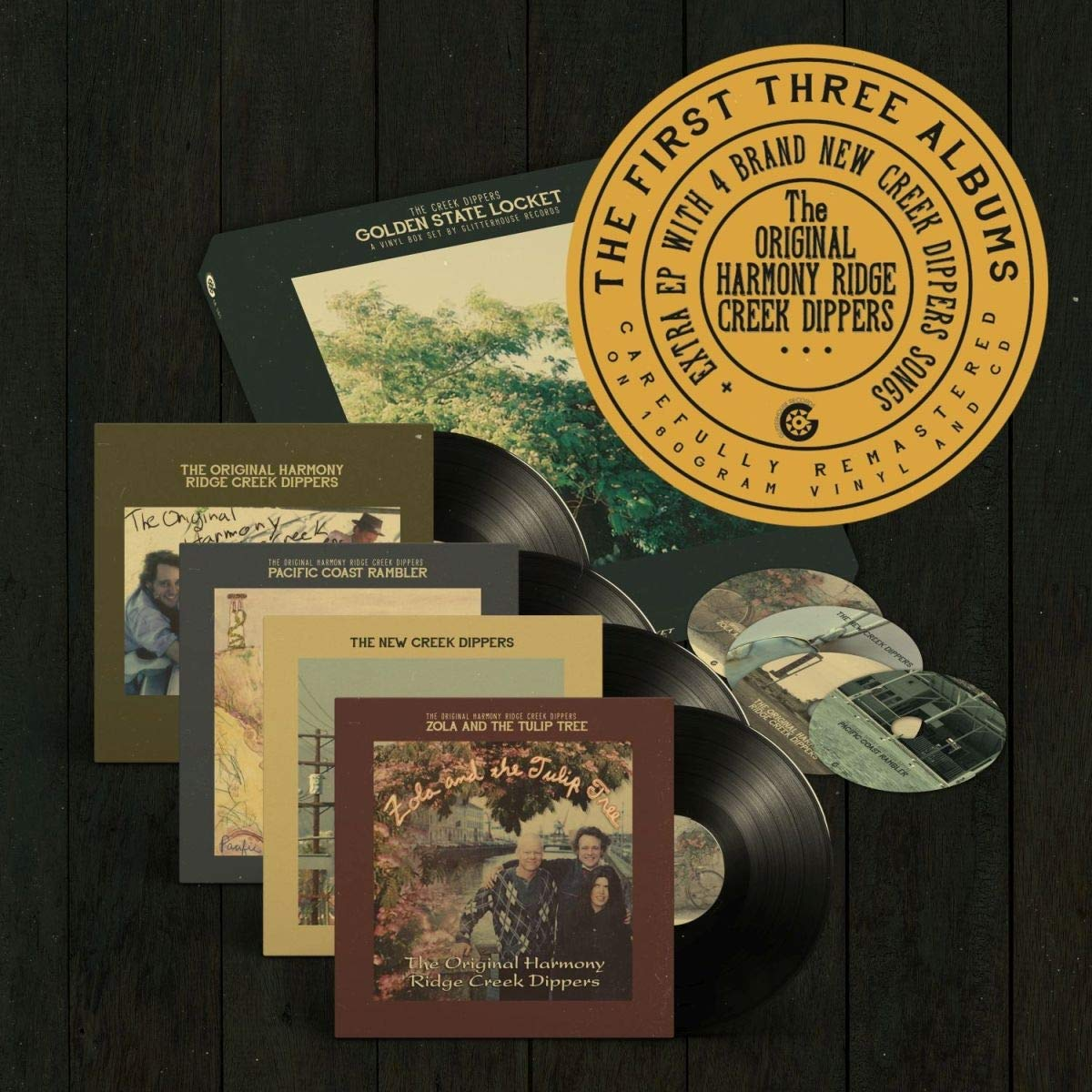 Vinilo : The Original Harmony Ridge Creekdippers - Golden State Locket (With CD, Boxed Set)