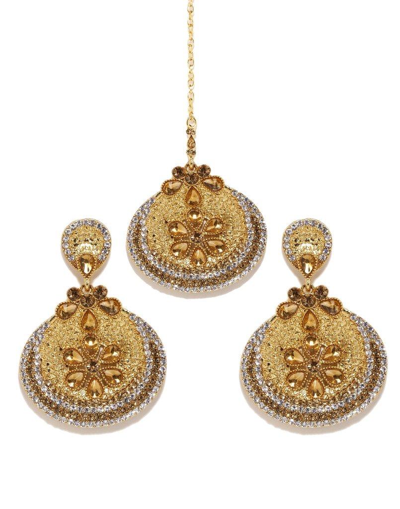 Bindhani Wedding Bridal Maang Tikka Or Earrings Mang Tika Indian Head Jewelry For Women