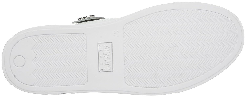Armani Jeans Damen Bassa Sneaker Bassa Damen Weiß (OffWeiß) f36b28