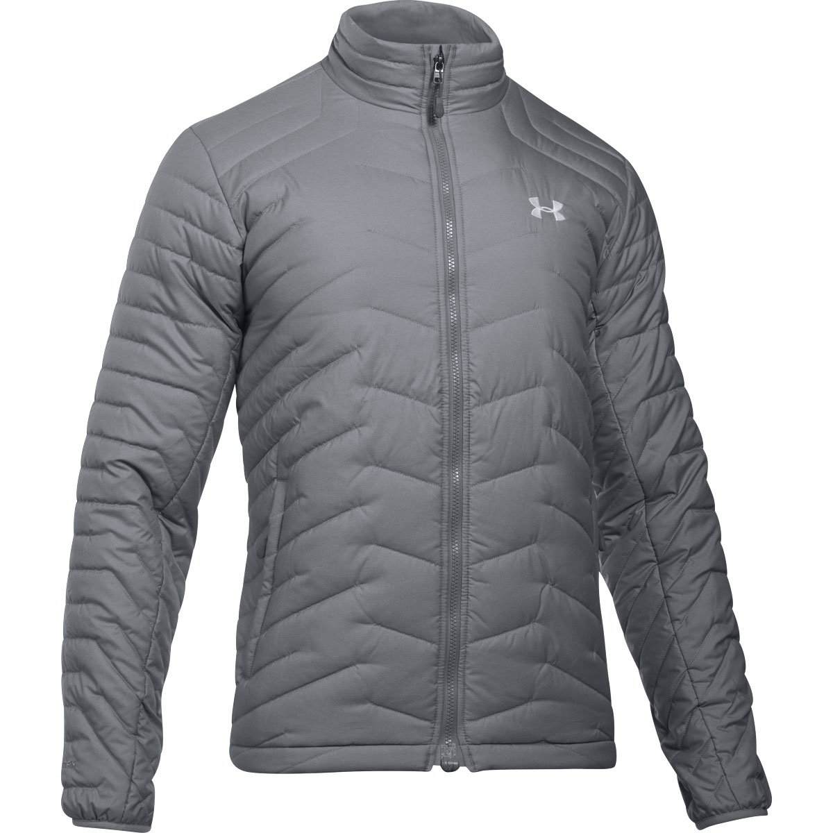 Under Armour Outerwear Men's Cold Gear Reactor Jacket, True Gray Heather/White, Large by Under Armour