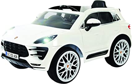 Rollplay 6V Porsche Macan Kids Ride,On Car , For Boys \u0026 Girls Ages 3 \u0026 Up ,  Battery,Powered Ride On Toy , White