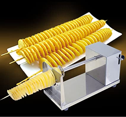Obller Stainless Steel Twister Spiral Potato Cutter Crisps