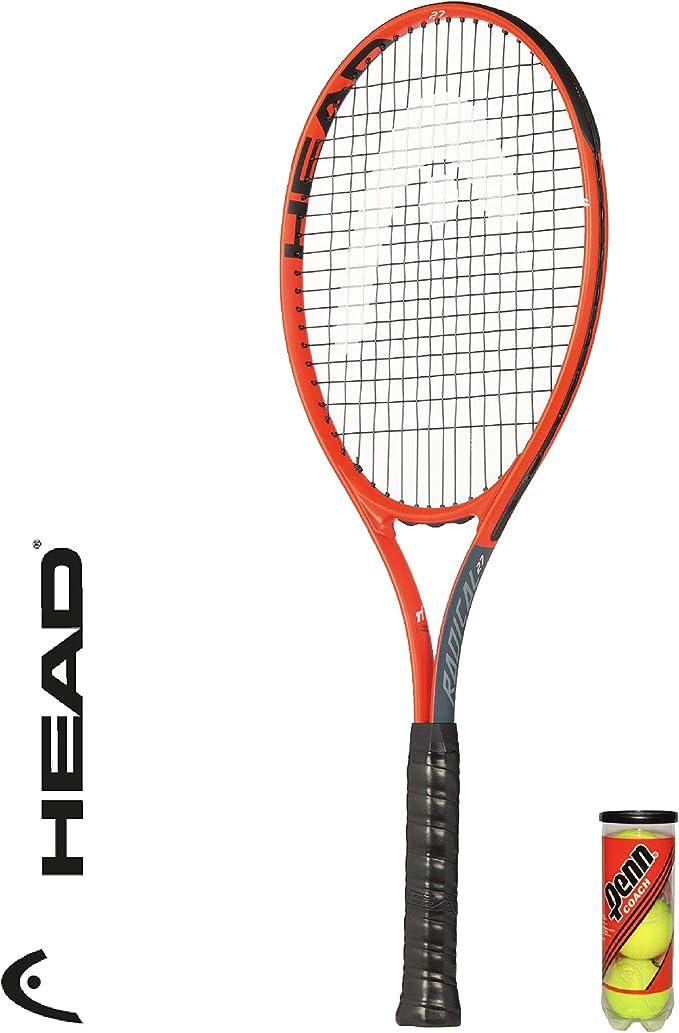Head Radical 27 - Raqueta de Tenis para Adultos + 3 Pelotas de ...