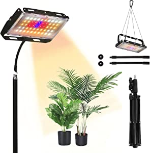 Grow Lights with Stand,150W Full-Spectrum Plant Growth Light for Indoor,Flexible Gooseneck and Adjustable Tripod 20-48.2 Inches