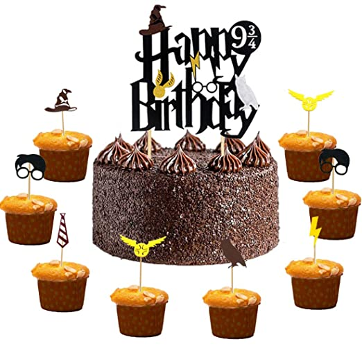 Harry Potter Cake Toppers Cumpleaños Decoraciones de Pastel ...