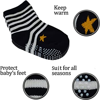 Taiguang Unisex Newborn Infant Toddler Cotton Anti-slip Baby Ankle Socks 0-4 Years Old