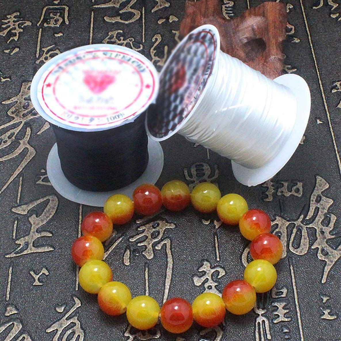 die das Armband-B/ördeln Thema Craft Accessories Noradtjcca 40m Flach Elastic Kristall Stretch String Polyester-Schnur f/ür Schmucksachen 43Yard