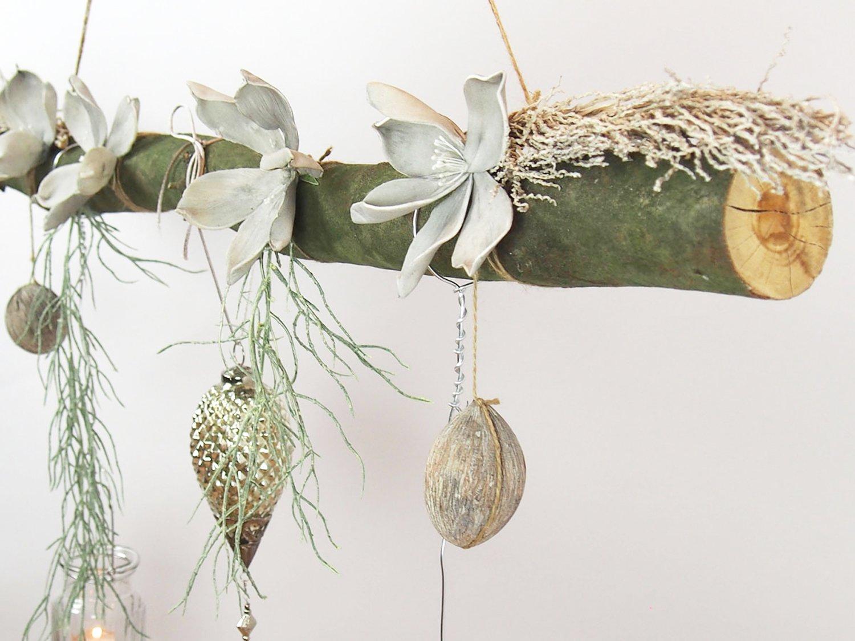 Deko Ast Zum Aufhängen amazon de deko ast aus buchenholz creatina mit glasornament
