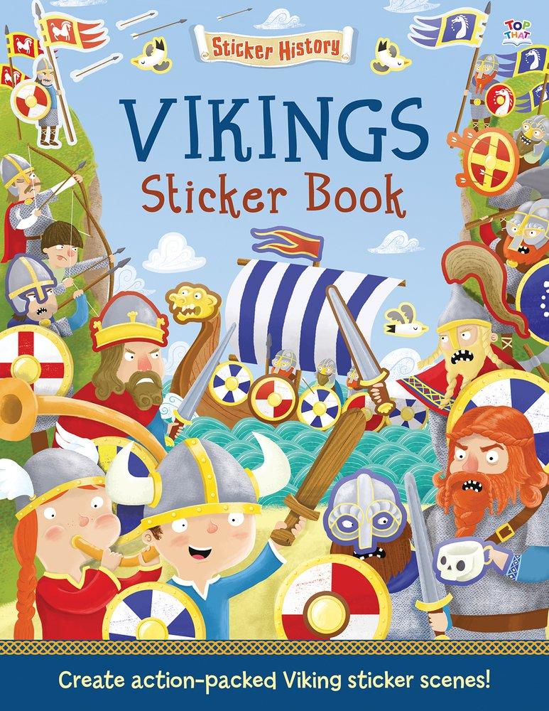 Vikings Sticker Book: Create action-packed Viking sticker scenes! (Sticker History)