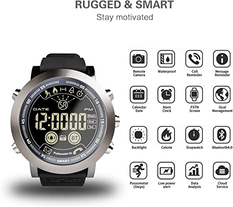 Amazon.com: XIAOMING LF23 Smart Watch Men IP68 Waterproof ...