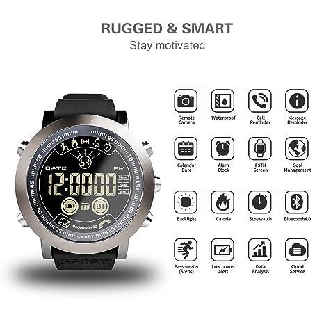 XINHUANG Reloj Elegante LF23 Hombres IP68 Resistente al Agua ...