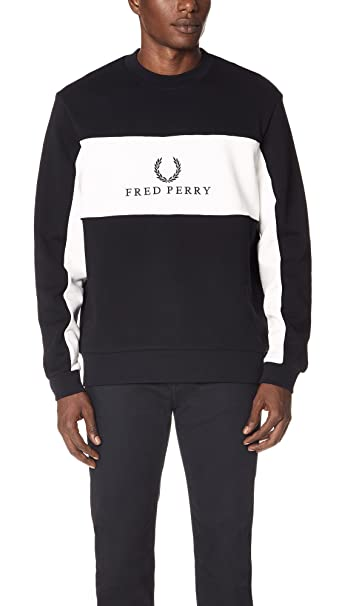 Fred Perry Panel Piped Sweatshirt, Sudadera: Amazon.es: Ropa y accesorios