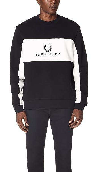 sito affidabile e2d52 56b73 Fred Perry - Sweater Man Black and White Logo: Amazon.ca ...
