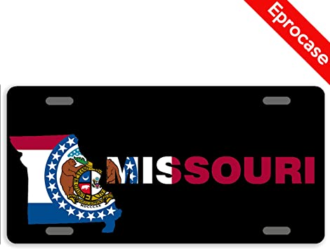 Missouri Novelty State Blank Metal License Plate