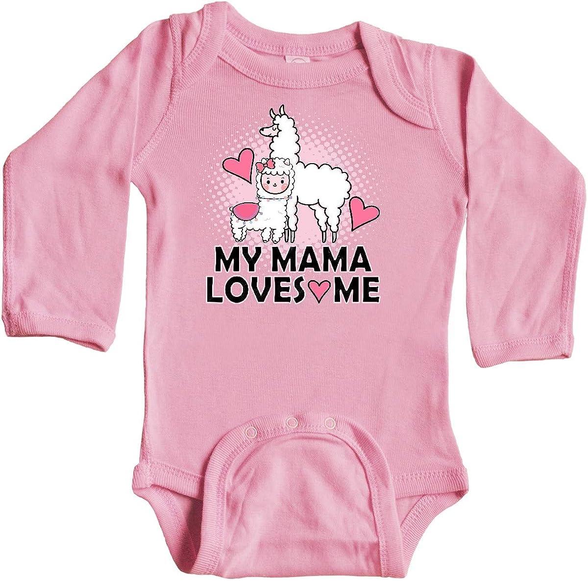 inktastic My Mama Loves Me Llama Long Sleeve Creeper