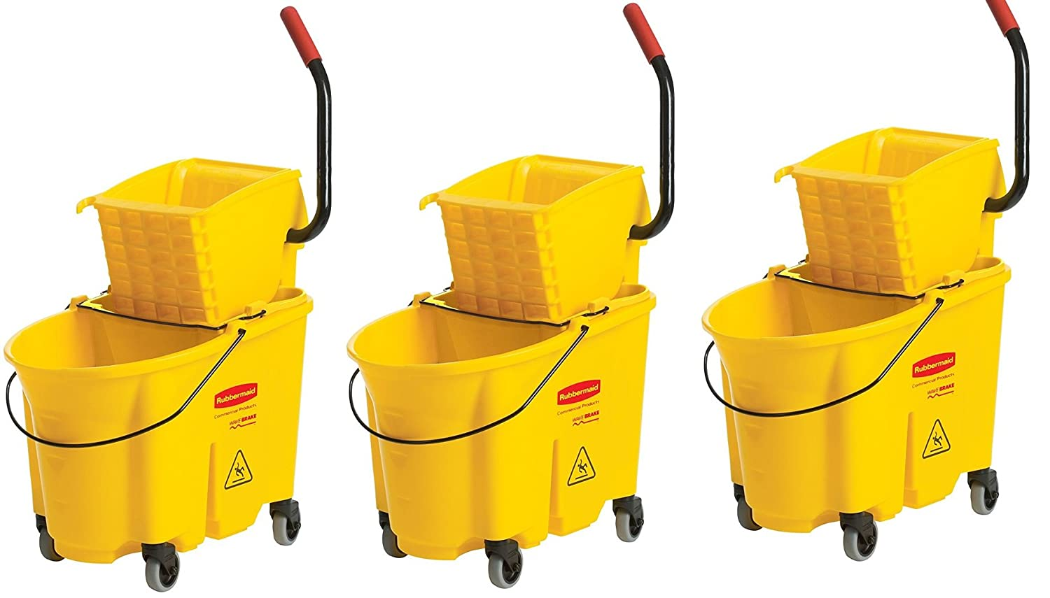 Rubbermaid Commercial fg758088yel Wavebreak Side押しコンボ 3,,Buckets B075CV12S7  3,,Buckets