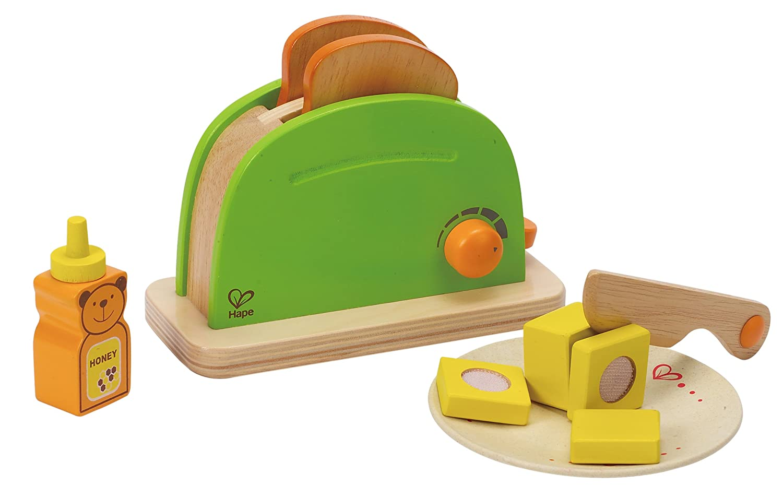 Hape Holz Kinder Toaster mit Zubehör