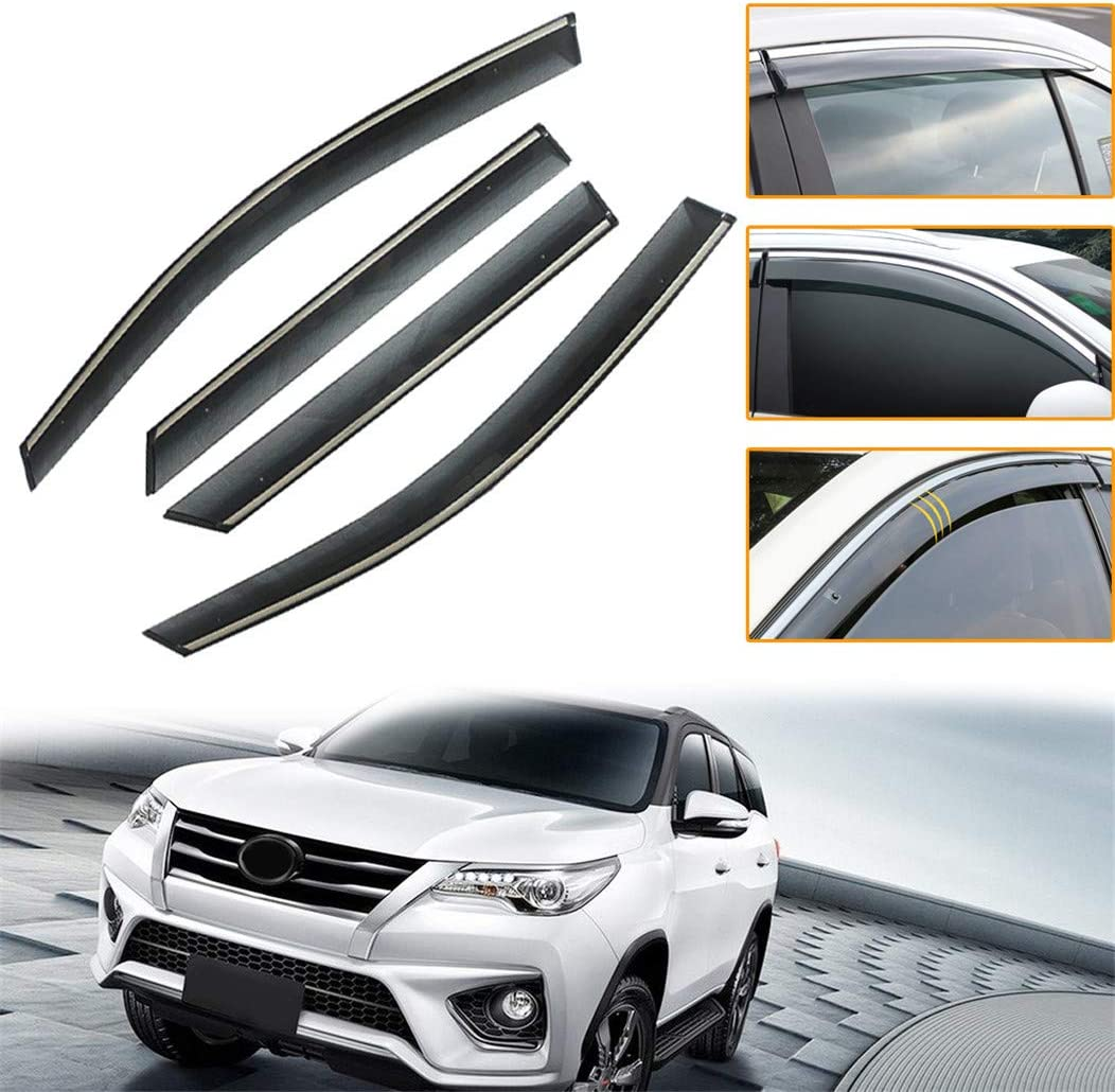 For 2016-2018 Honda Civic Sedan Window Visor Sun Rain Wind Guard Vent Shade 4Pcs